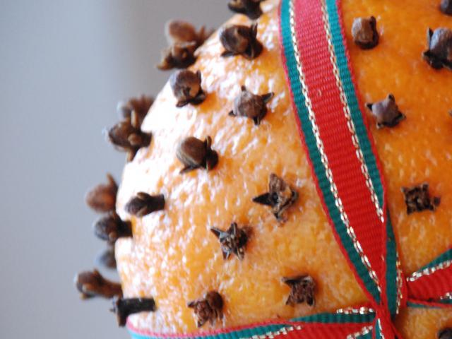 Orange and clove pomander