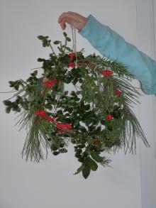 Christmas homemade wreath